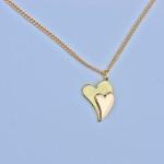 Halsband i guld, Hjärtan